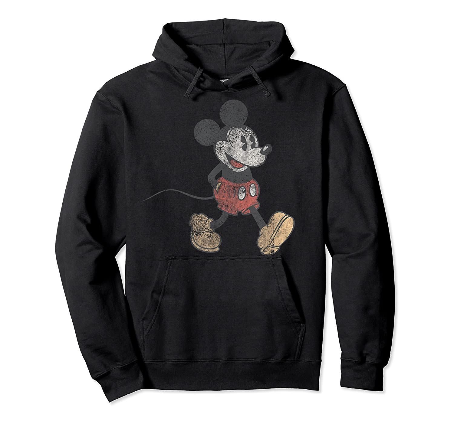 Disney Mickey Mouse Walk T Shirt Unisex Pullover Hoodie