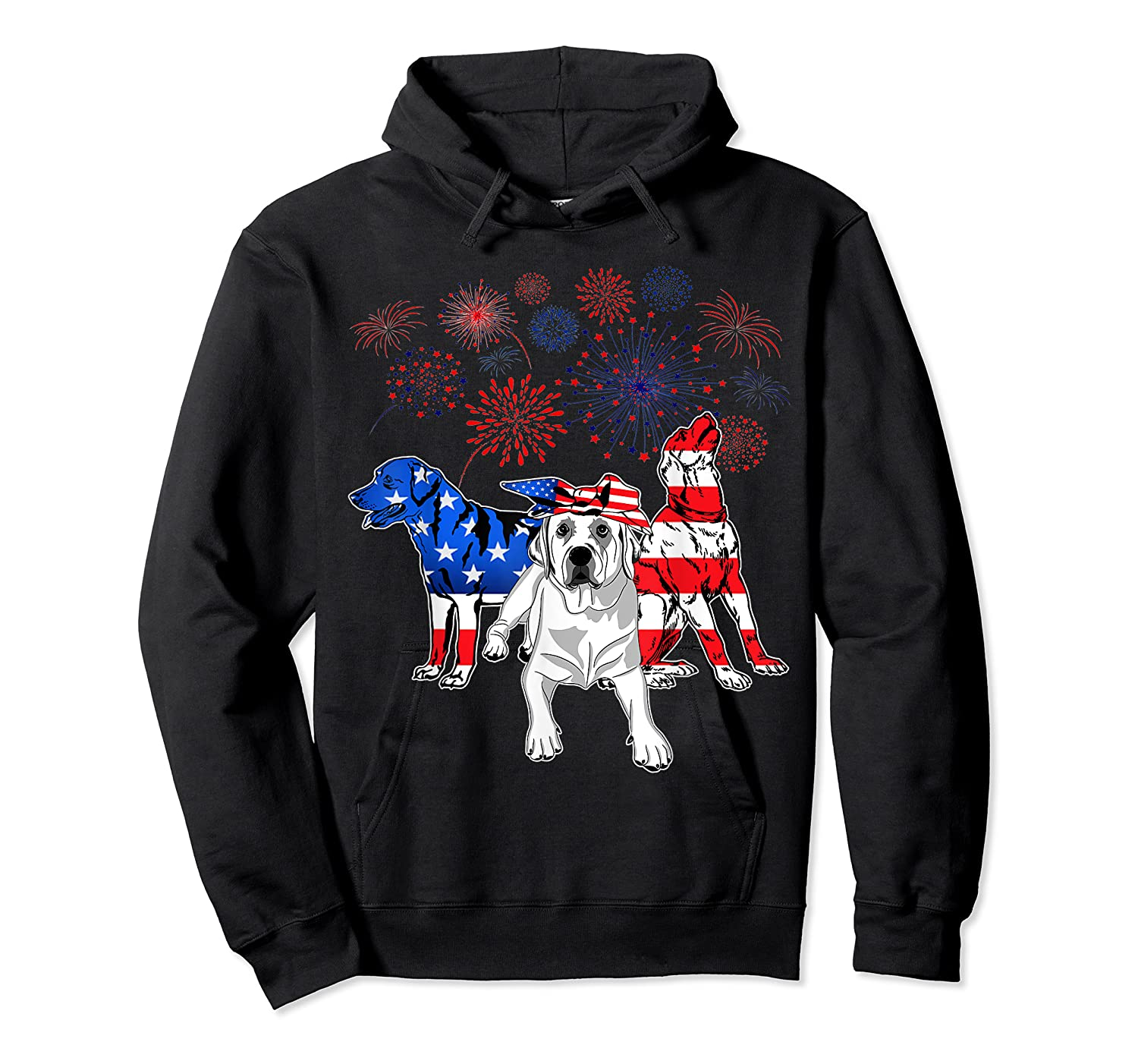 Labrador 4th Of July America Flag Gifts Shirts Unisex Pullover Hoodie