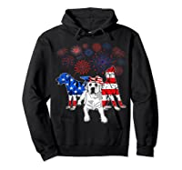 Labrador 4th Of July America Flag Gifts Shirts Hoodie Black