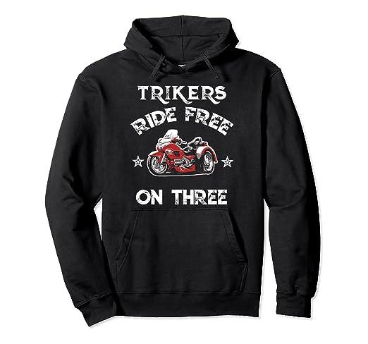 amazon com trike trikers ride free on three trikin 3 wheeler hoodie