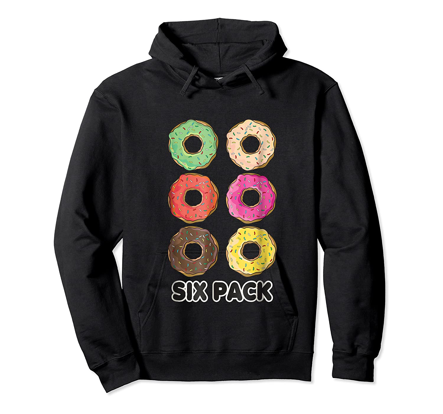 Funny Donut Six Pack Muscle T Shirt Unisex Pullover Hoodie
