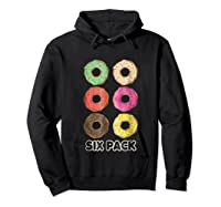 Funny Donut Six Pack Muscle T Shirt Hoodie Black