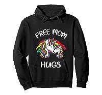 Free Mom Hugs Rainbow Gray Pride Lgbt Funny Tank Top Shirts Hoodie Black