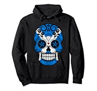 Scottish Flag Sugar Skull Shirts Hoodie Black