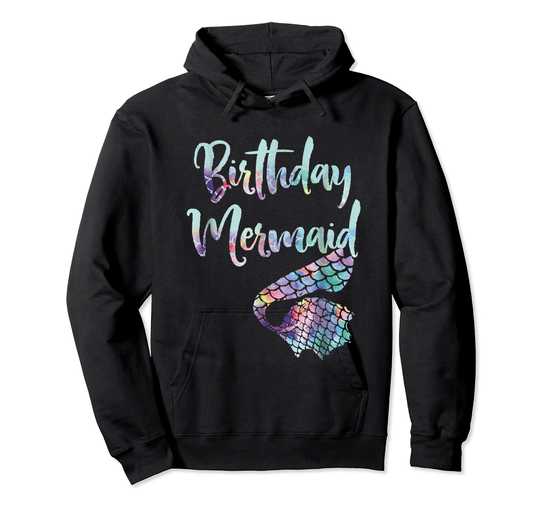 Birthday Mermaid Shirt-Hoodie-Black