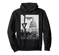 Vintage Washington Dc District Of Columbia T Shirt Hoodie Black
