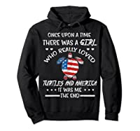 Once Upon A Time Turtle America 4th Of July T Shirt Gifts Hoodie Black