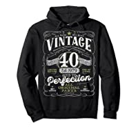 Vintage 40th Birthday Shirt, 1979, Aged To Perfection Hoodie Black