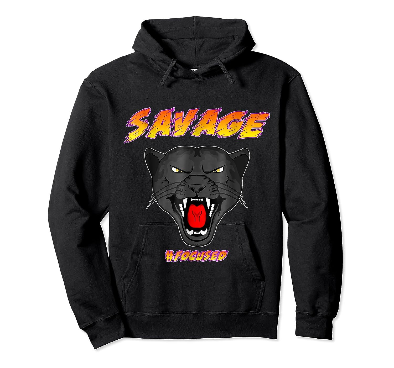 Savage T Shirt Wild Black Panther Focused Unisex Pullover Hoodie