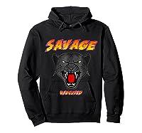 Savage T Shirt Wild Black Panther Focused Hoodie Black
