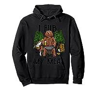 Rub My Meat Camping Bbq Bear Shirts Hoodie Black