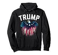 Trump American Flag Eagle Shirts Hoodie Black