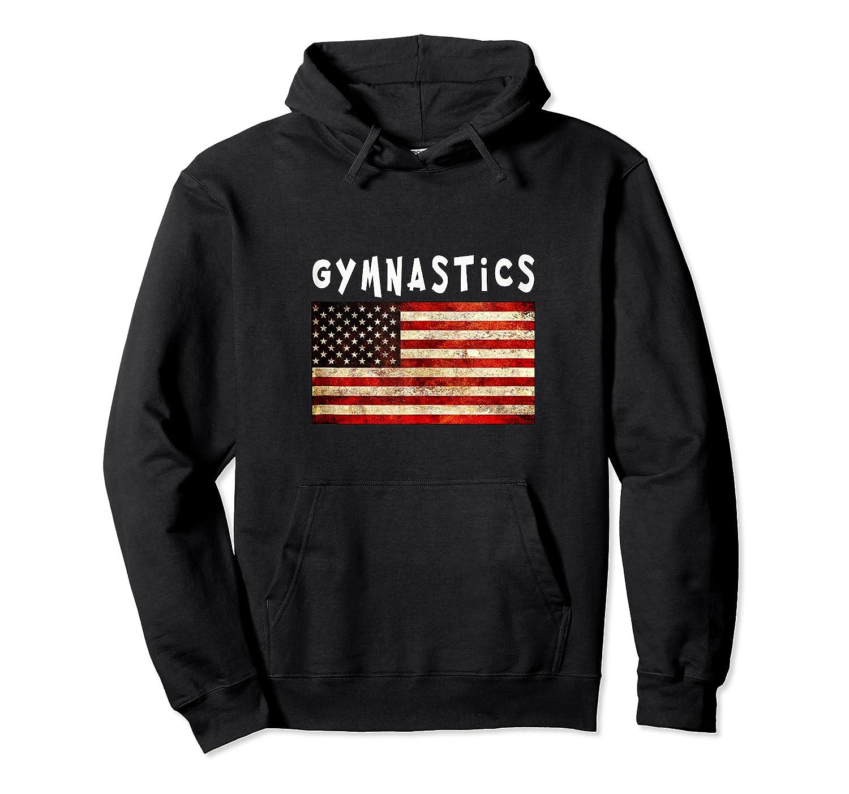 Gymnastics Usa American Flag Apparel Gymnast Grunge Design Shirts Unisex Pullover Hoodie