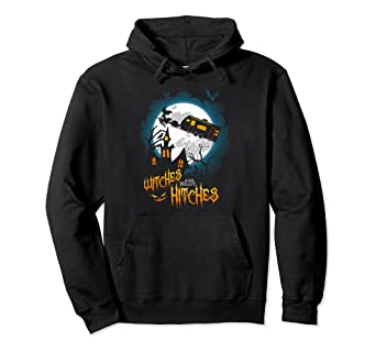 b14e2dae Image Unavailable. Image not available for. Color: Witches With Hitches  Camping Halloween Graphic Hoodies Women