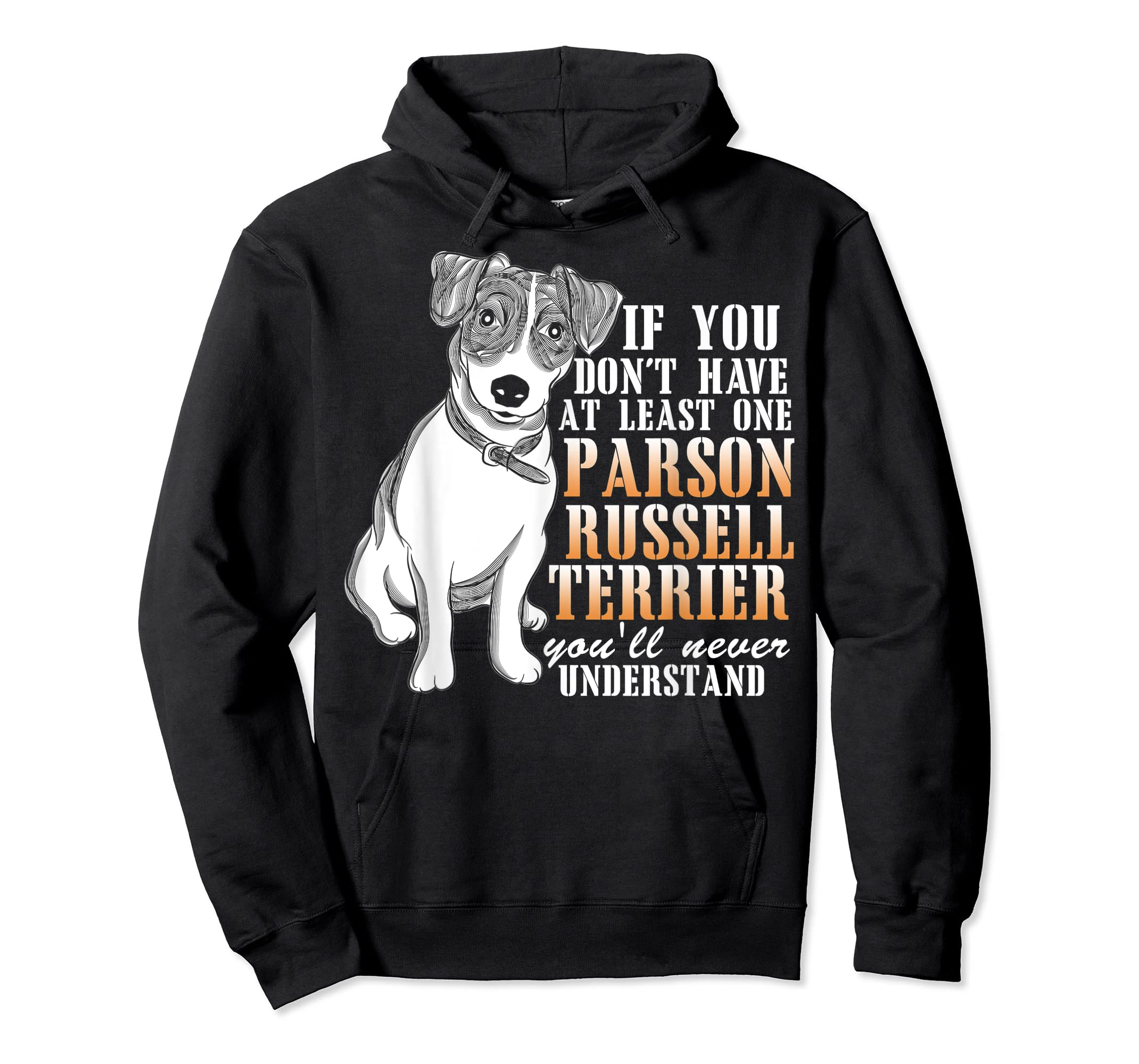Parson Russell Terrier T Shirt, I Love My Dog T Shirt-Hoodie-Black