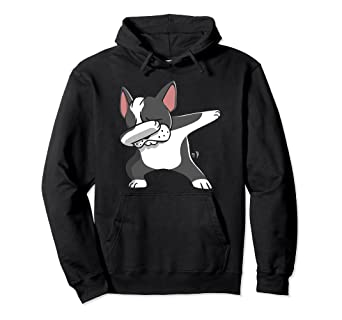 e280ae085a7 Image Unavailable. Image not available for. Color  Dab Boston Terrier  Hooded Sweatshirt ...