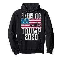 (print On Back) Bikers For Trump T-shirt Motorcycle Rally Hoodie Black