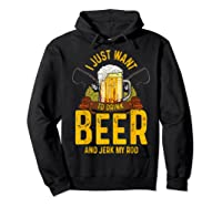 Funny Beer And Fishing Fathers Day Gift Adult Humor Shirts Hoodie Black