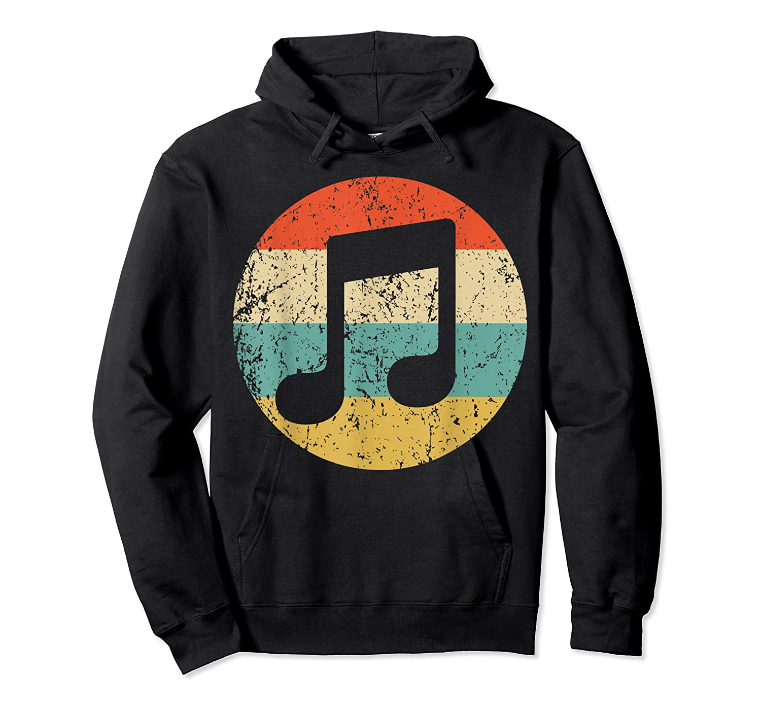 Musician Retro Musical Notes T-shirt Unisex Pullover Hoodie