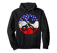 American Flag Car Mechanic Shirt - Screwdriver Wrench Shirt Hoodie Black