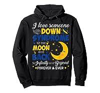 Mom Dad Love Someone World Down Syndrome Shirts Hoodie Black
