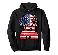Funny Hovawart American Flag 4th Of July Shirts Hoodie Black