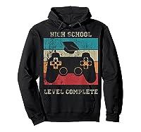 High School Graduation Shirt Level Complete Video Gamer Gift Hoodie Black