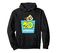 Spongebob Squarepants 20 Years Of Spongebob T-shirt Hoodie Black