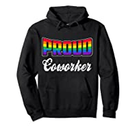 Proud Coworker Gay Pride Month Lgbtq Shirts Hoodie Black