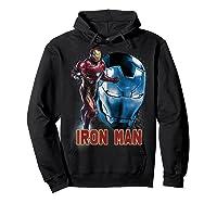Avengers Endgame Iron Man Side Profile Graphic Shirts Hoodie Black