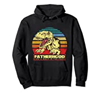 Fatherhood Like A Walk In The Park Father's Day Gif Shirts Hoodie Black