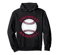 Classic Cincinnati Baseball Fan Retro Shirts Hoodie Black