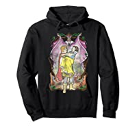 Snow Distressed Poster Style Graphic Shirts Hoodie Black