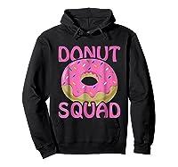 Pink Donut Squad Birthday Shirts Hoodie Black