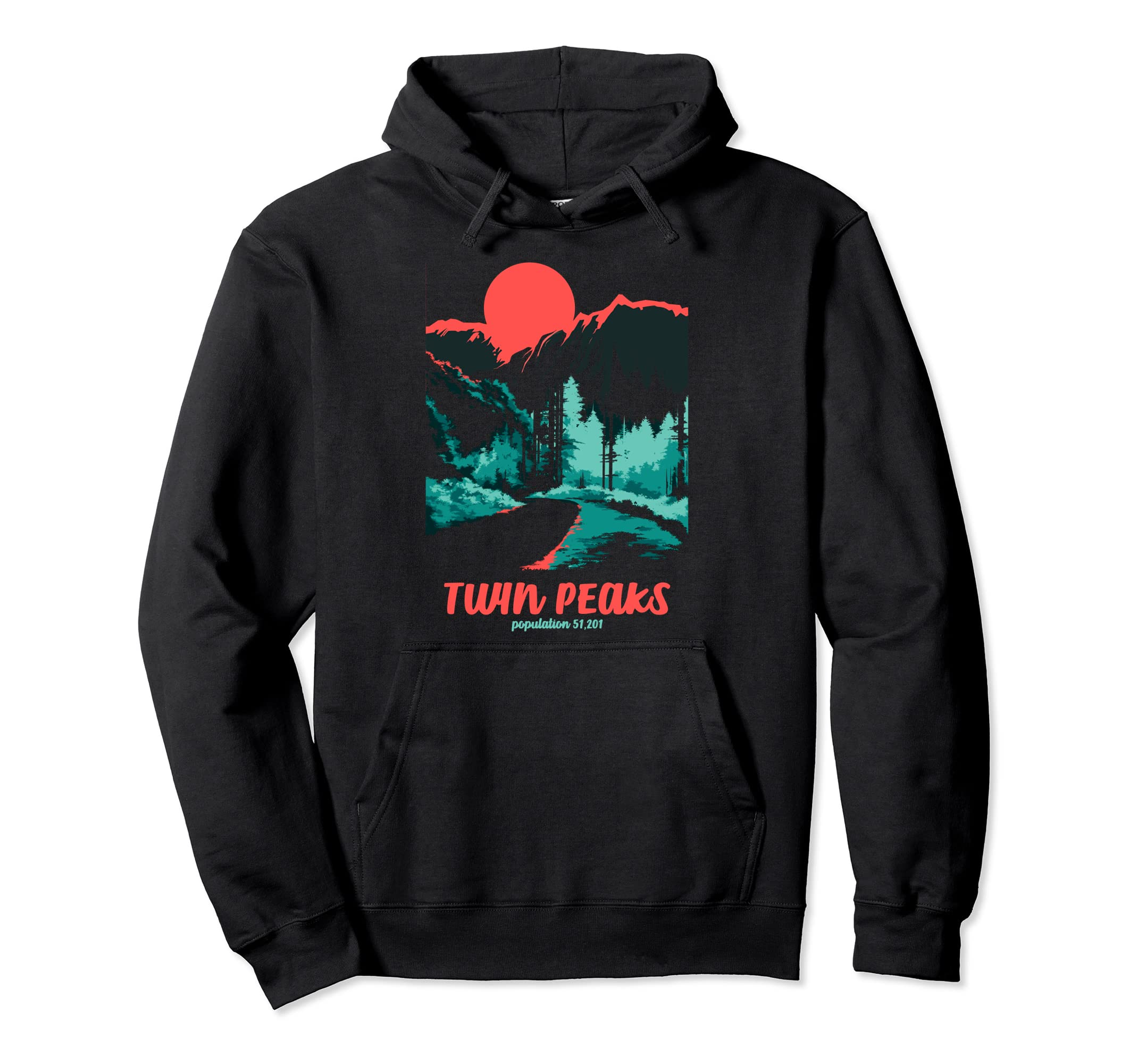 Twin Peaks Classic Tonal Color Pop Poster Hoodie-SFL