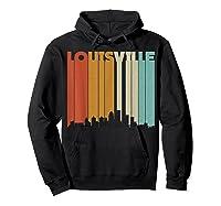 Louisville Retro Skyline City T Shirt Souvenir Skyline Hoodie Black