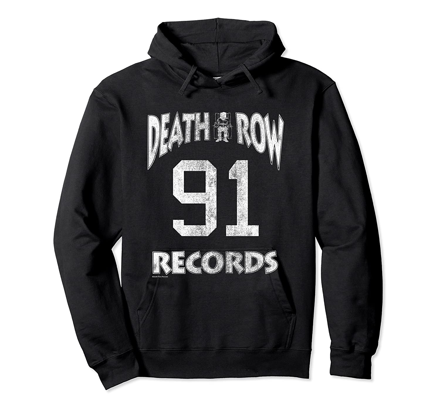 Death Row Records Athletic 91 Distressed T-shirt Unisex Pullover Hoodie