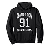 Death Row Records Athletic 91 Distressed T-shirt Hoodie Black