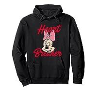 Disney Minnie Heartbreaker T Shirt Hoodie Black
