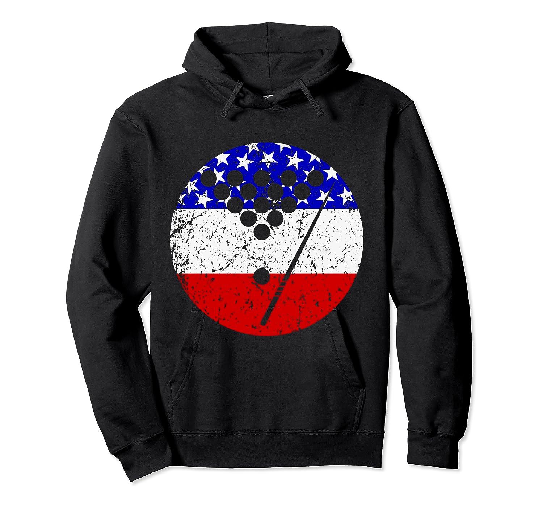 American Flag Billiards Vintage Retro Pool Shirts Unisex Pullover Hoodie