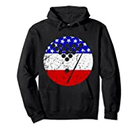 American Flag Billiards Vintage Retro Pool Shirts Hoodie Black