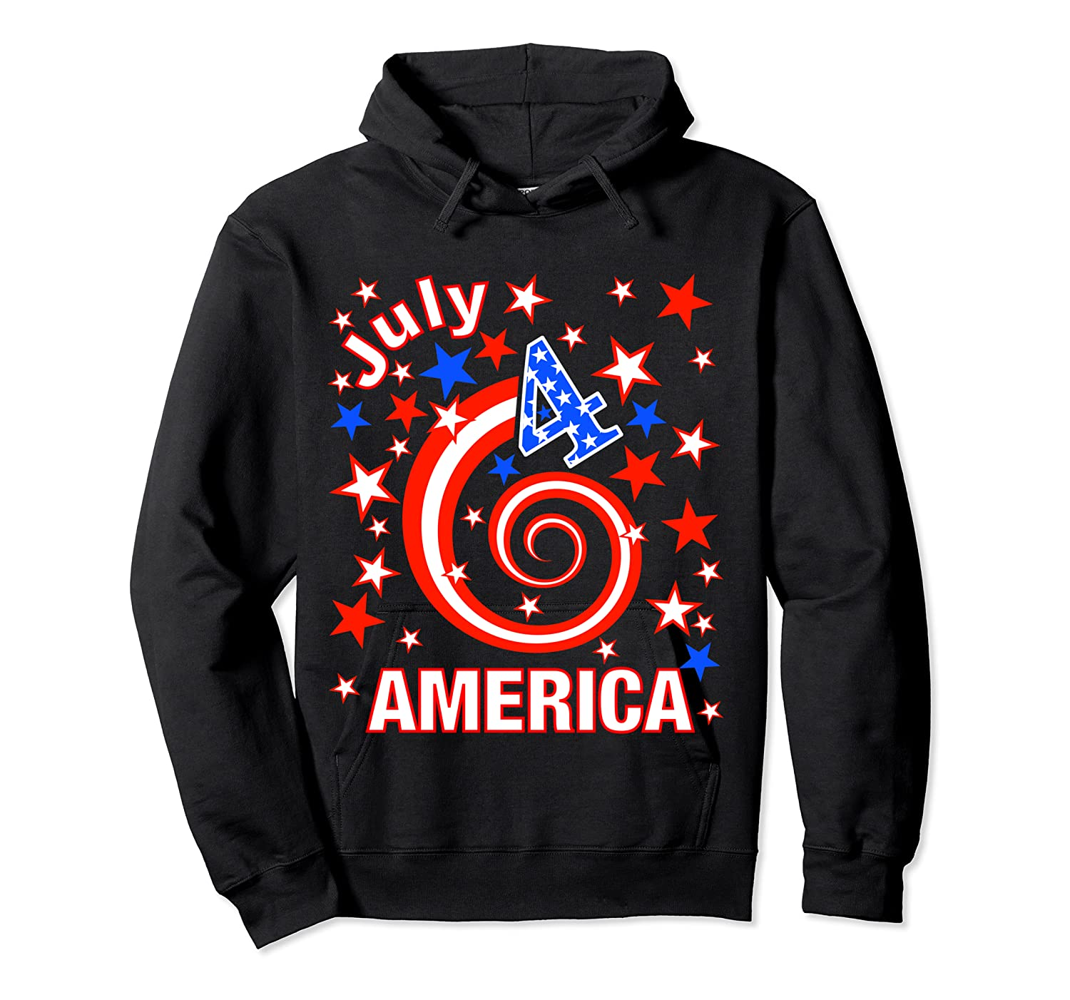 Festive 4th Of July, Independence Day Design Shirts Unisex Pullover Hoodie
