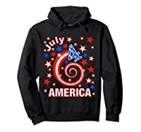 Festive 4th Of July, Independence Day Design Shirts Hoodie Black