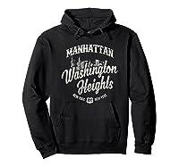 New York Manhattan Washington Heights T Shirt Hoodie Black