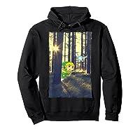 Nintendo Zelda Link And Navi Photo Real Forest Scene Shirts Hoodie Black
