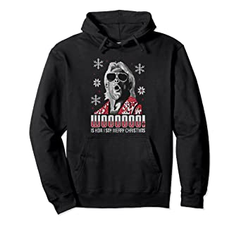 Amazoncom Wwe Ric Flair Wooo Ugly Xmas Pullover Hoodie Clothing