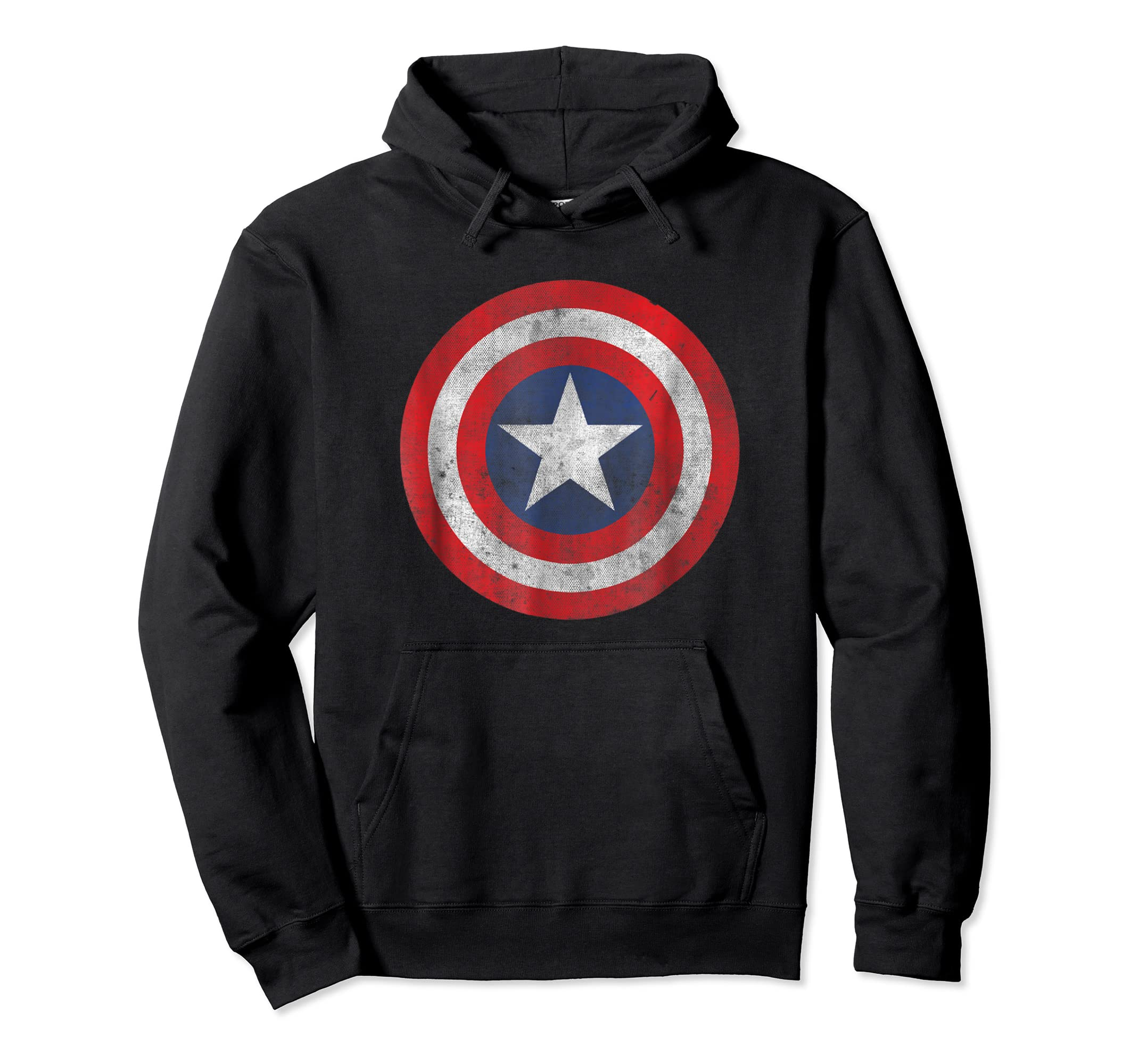 Marvel Captain America Classic Shield Graphic T-Shirt-Hoodie-Black