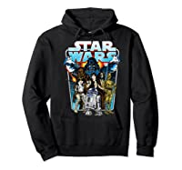 S Classic Comic Art Group Shot Darth Vader Shirts Hoodie Black