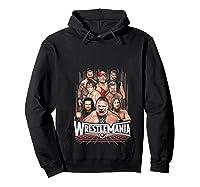 Wrestlemania Group Wwe T-shirt Hoodie Black