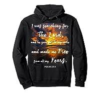 Christian Prayer Bible Verse Psalms 34 4 Quote T Shirt Hoodie Black
